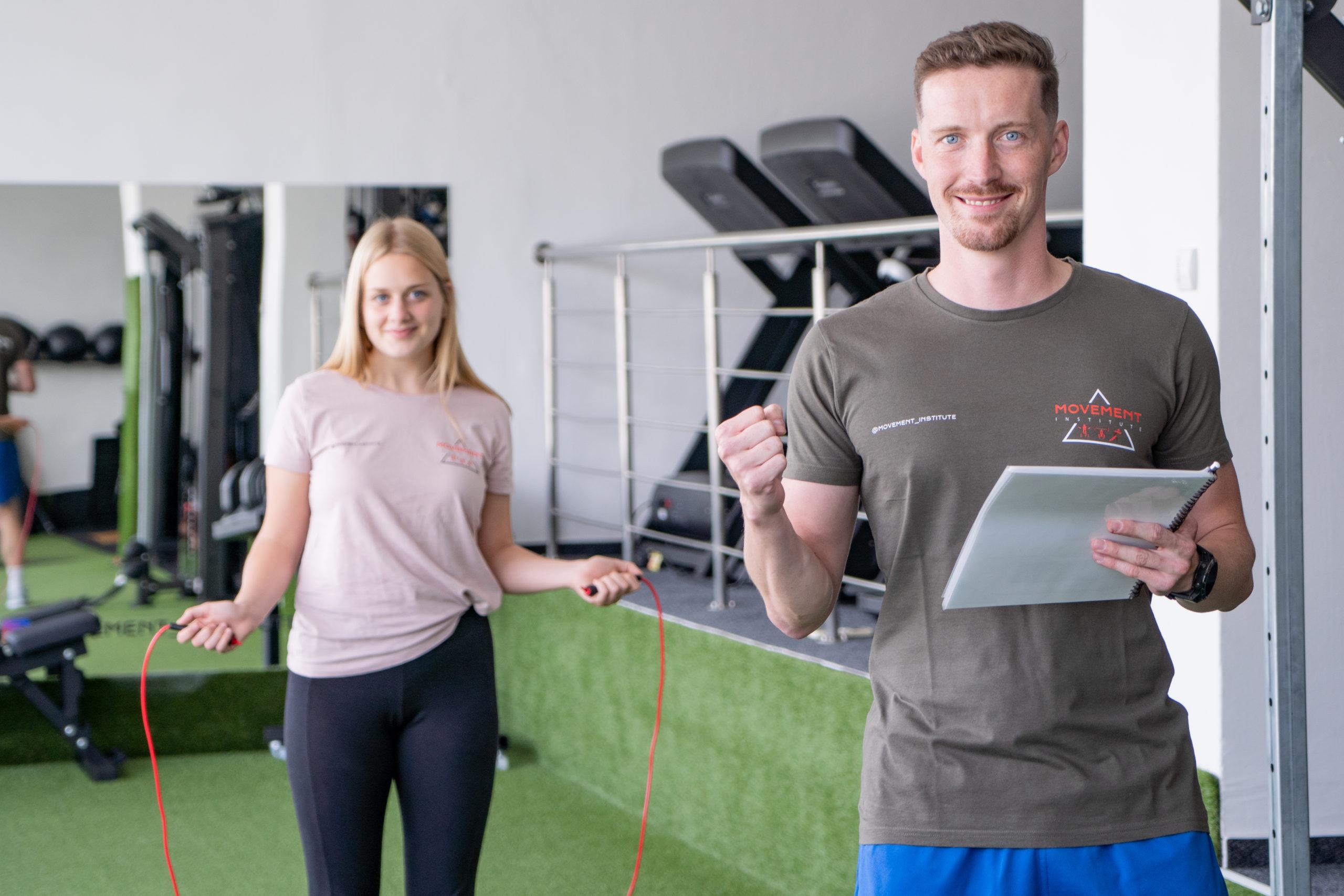 osobný tréner fitness centrum formovanie postavy tréningový plán Movement institute